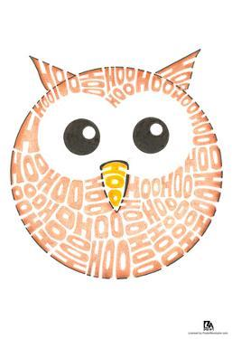 Owl Hoo Text Poster