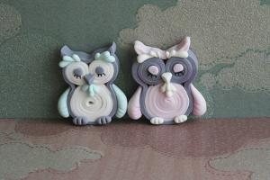 Owl Quilled Boy and Girl