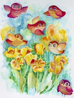 Butterfly Owls by Oxana Zaika