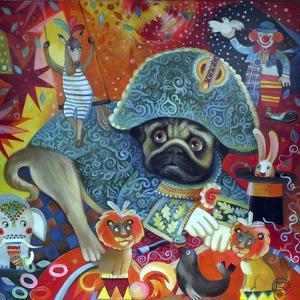 Circus Pug by Oxana Zaika