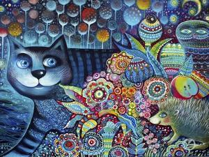 Indigo Cat by Oxana Zaika