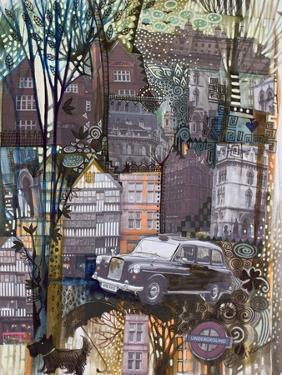 London Taxi by Oxana Zaika