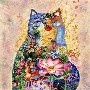 Lotus Cat by Oxana Zaika