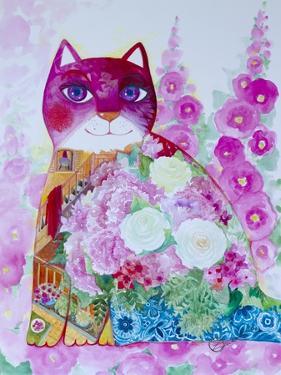 Pink Cat by Oxana Zaika
