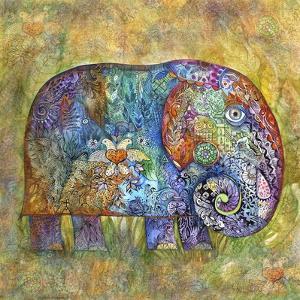 Runes Elephant by Oxana Zaika
