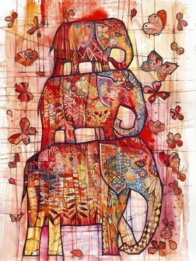 Three Elephants by Oxana Zaika