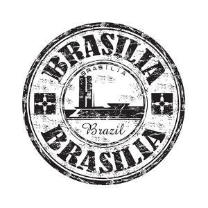 Brasilia Grunge Rubber Stamp by oxlock