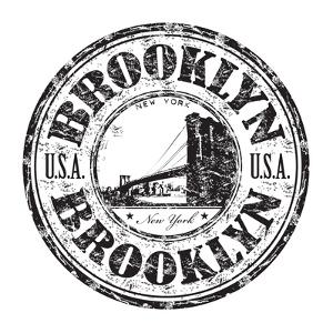 Brooklyn Grunge Rubber Stamp by oxlock