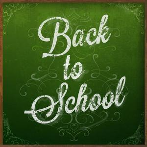 Back to School, Chalk Blackboard by Ozerina Anna