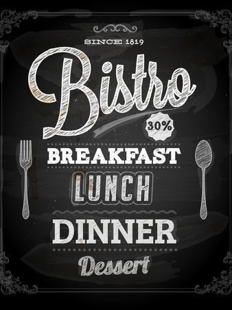 Bistro Chalkboard Poster For Vintage Design