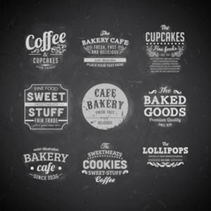 Set Of Retro Bakery Labels by Ozerina Anna