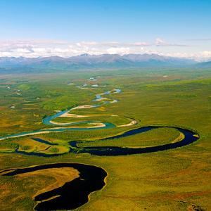 North Fork of the National Wild and Scenic River South of the Brooks Range in Alaska by P.A. Lawrence