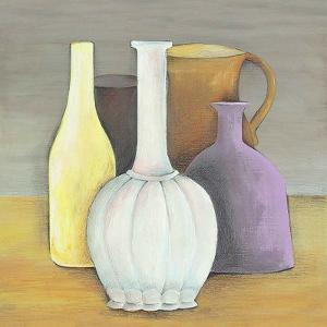 Brown, Mauve and Yellow by P. Clement