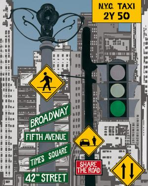 Manhattan Signes II by P. Clement