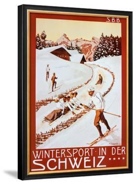 Winter Sport in Der Schweiz by P. Colombi