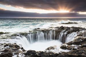 El Bufadero, a Geologic Rock Formation at the Coast at Sunrise, Gran Canaria by P. Kaczynski