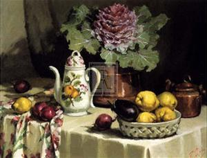 Still Life with Coffee Jug by P. Moran