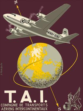 TAI Airline (Transports Aeriens Intercontinenteaux) - Douglas DC-4E Airplane by P. Praquin