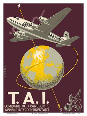 TAI Airline (Transports Aeriens Intercontinenteaux) - Douglas DC-4E Airplane by P^ Praquin