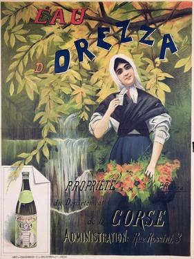 Poster Advertising 'Eau D'Orezza', Natural Mineral Water by P. Ribera