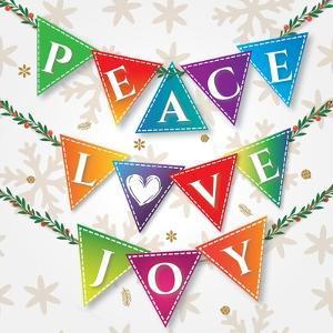 Peace Love Joy by P.S. Art