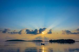 Sunrise on the Beach, Chaweng Beach, Island Ko Samui, Thailand, Asia by P. Widmann