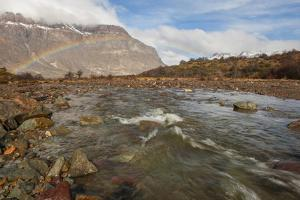 River and Rainbow, Patagonia, Argentina, South America by Pablo Cersosimo