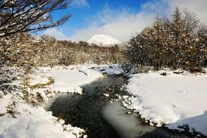 River, Snow, Patagonia, Argentina, South America by Pablo Cersosimo