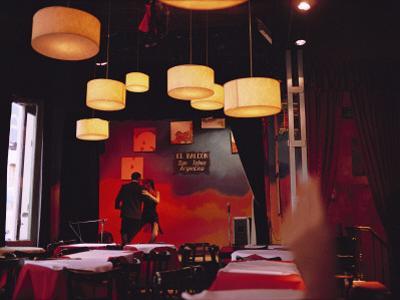 A Couple Dances the Tango at a Club in the San Telmo District