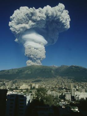 The Eruption of Guagua Pichincha on October 7, 1999, the Volcano Rises 15,728 Feet by Pablo Corral Vega