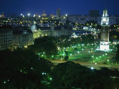 View of Buenos Aires and the Tower of the Englishmen at Night
