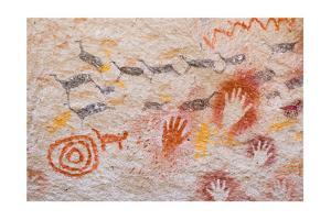 Ancient Cave Paintings In Patagonia, Argentina by pablo hernan