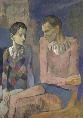 Acrobat and Young Harlequin by Pablo Picasso