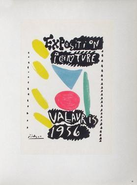 AF 1956 - Exposition peinture Vallauris by Pablo Picasso