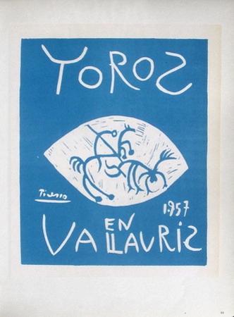 AF 1957 - Toros en Vallauris by Pablo Picasso