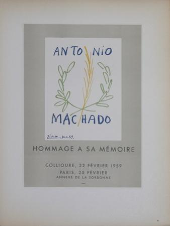 Antonio Machado by Pablo Picasso