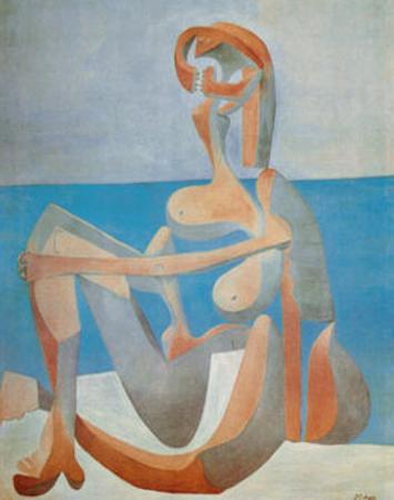 Baigneuse Assise au Bord de la Mer, c.1930 by Pablo Picasso