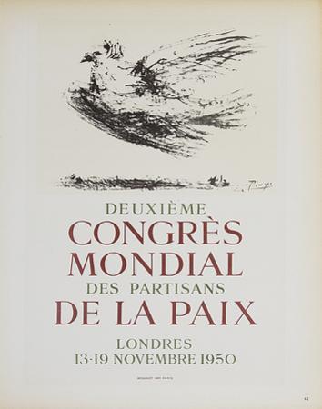 Deuxieme Congres Mondial des Partisans by Pablo Picasso