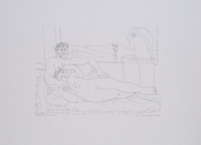 Escultor Resposando by Pablo Picasso