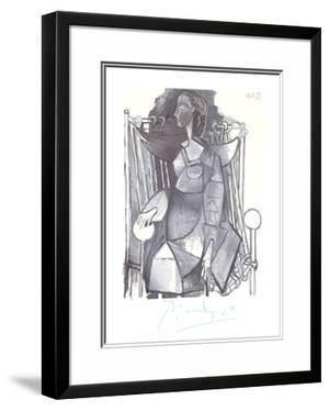 Femme Assise Dans un Fauteuil Tresse by Pablo Picasso
