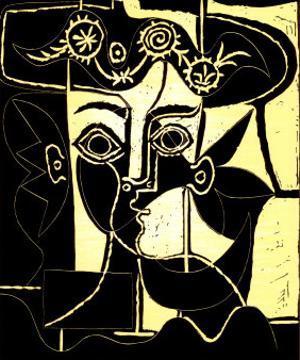 Femme au Chapeau Orne, c.1962 by Pablo Picasso