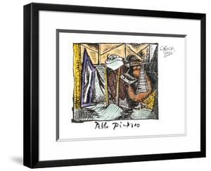 Femme Dessinant Femme Assoupie by Pablo Picasso