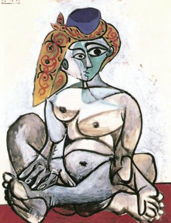 Frau mit Turban, 1955 by Pablo Picasso