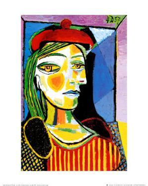 Girl with Red Beret by Pablo Picasso