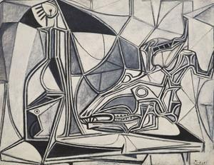 Goat's Skull, Bottle and Candle, 1952 by Pablo Picasso