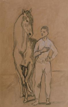 Horse with a Youth in Blue, 1905-6 by Pablo Picasso