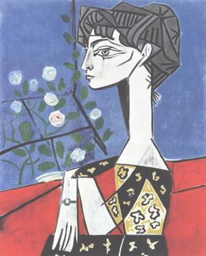 Jacqueline avec des fleurs by Pablo Picasso