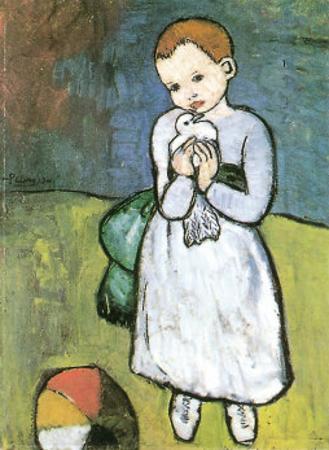 Kind Mit Taube, 1901 by Pablo Picasso