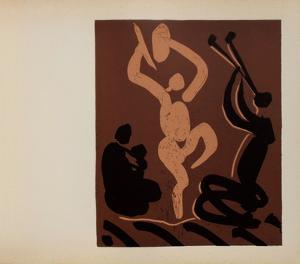 LC - Mère danseur et musicien by Pablo Picasso