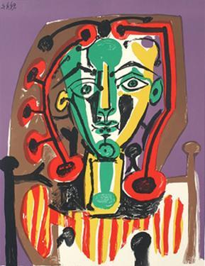 Le Corsage Raye by Pablo Picasso